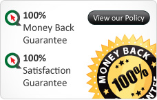 100% Money Back Guarantee, 100% Satisfaction Guarantee